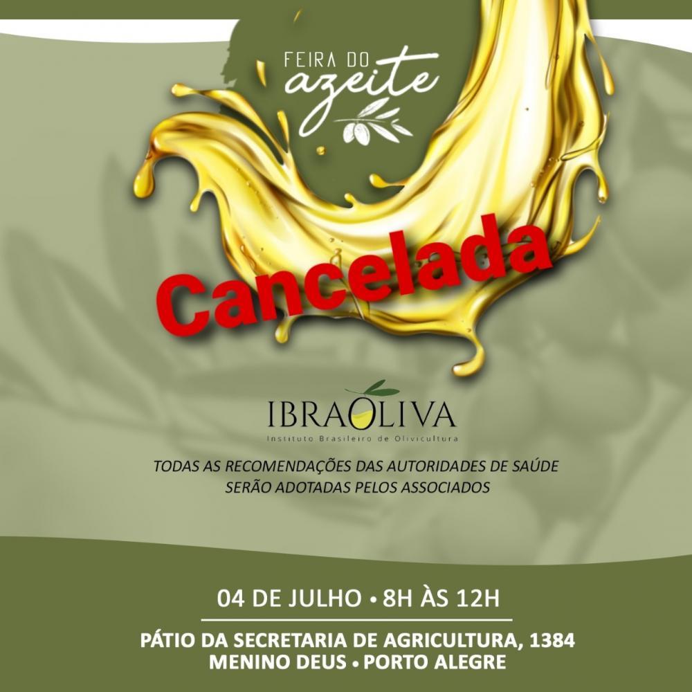 IBRAOLIVA atende apelo do Governador e cancela Feira do Azeite em Porto Alegre