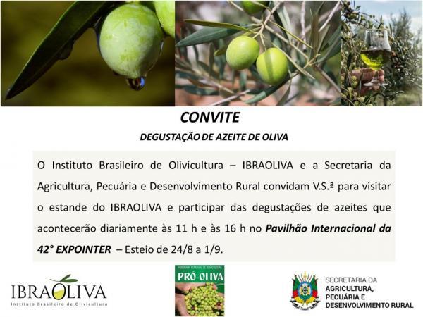 Convite degustação azeites Expointer 2019