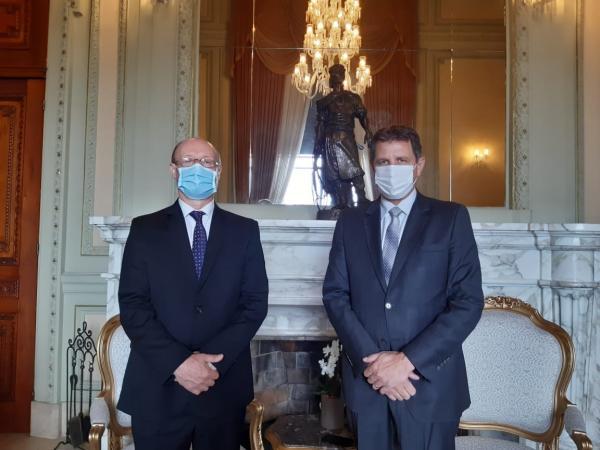 Governador em exercício recebe o presidente do Ibraoliva