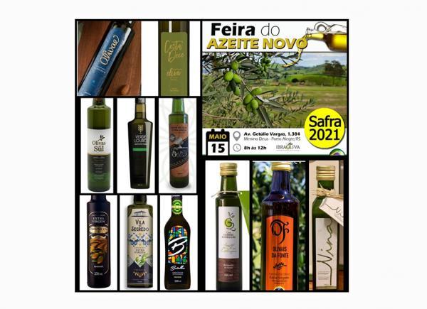 Feira do Azeite Novo acontece neste sábado (15/05), em Porto Alegre